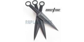 Set 3 Kunais X Large Expendables PP-024-3 Couteaux