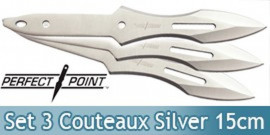 Set 3 Couteaux Silver Perfect Point TK-014-6S