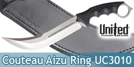 Couteau Honshu Aizu Ring Silver UC3010 United Cutlery