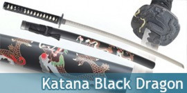 Katana Decoration Black Dragon Epee Sabre