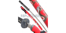 Katana Decoration Red Dragon Epee Sabre