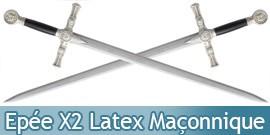 2 Epées de combat Maconnique Latex