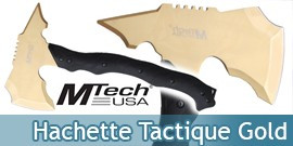 Hache Hachette Tactique Gold MT-AXE13GD