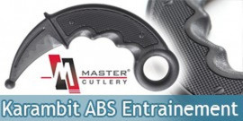 Couteau Karambit Entrainement ABS E419-PP Master Cutlery