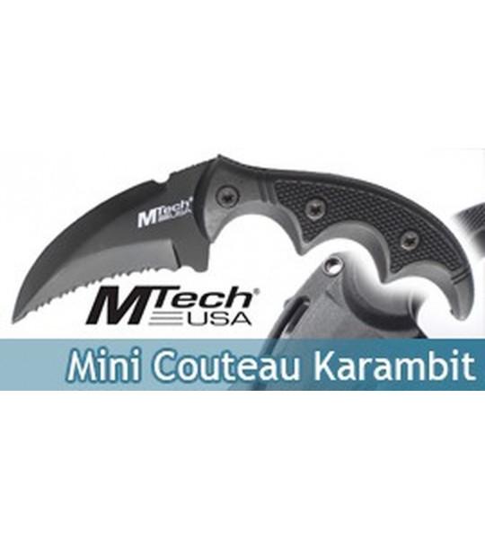 Mini Couteau Karambit Noir MT-20-63BK Master Cutlery