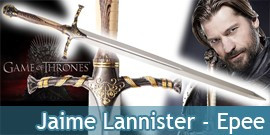Game of Thrones Epee de Jaime Lannister Le Trone de Fer