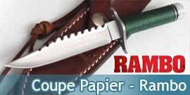 Mini Couteau Rambo MC-RBM1SS Coupe Papier Miniature