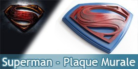 Plaque Murale Superman Man of Steel NN4518