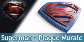 Plaque Murale Superman Man of Steel NN4518