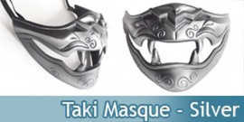 Soul Calibur Masque de Taki Mask Silver Cosplay