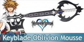 Kingdom Hearts Keyblade Oblivion Sora Mousse Latex