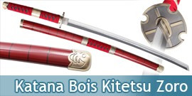 Katana en Bois One Piece Zoro Kitetsu Replique Epee