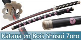 Katana en Bois One Piece Zoro Shusui Replique Epee