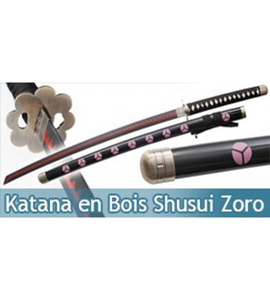 Katana en Bois One Piece Zoro Shusui Replique Epee