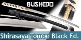 Bushido - Shirasaya Katana Forgé Tomoe Black- Maru 1045