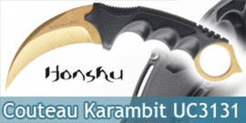 Couteau Karambit Honhsu UC3131 Gold Editon