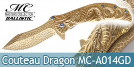 Couteau Pliant Gold Dragon Masters Collection MC-A014GD
