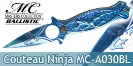 Couteau Pliant Ninja Blue Masters Collection MC-A030BL