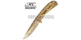 Couteau Pliant Gold Cerf MC-A033GD