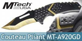 Couteau Pliant Gold Black MT-A920GD Mtech USA