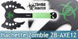 Hachette Double Lame Zombie Hunter ZB-AXE12