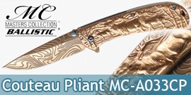 Couteau Pliant Bronze Cerf Masters Colection MC-A033CP