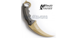 Couteau Karambit Mtech USA MX-8140BN Gold Edition