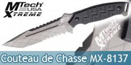 Couteau de Chasse Mtech USA Xtreme MX-8137BK