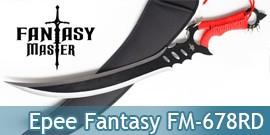 Epee Courte Ninja Fantasy Master Black FM-678RD
