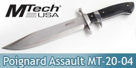Poignard Assault Couteau Mtech MT-20-04 Tactique