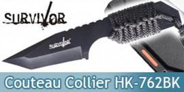 Petit Couteau de Survie Collier HK-762BK