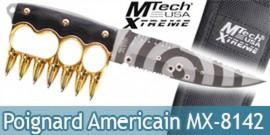 Couteau Poing Americain Poignard Mtech MX-8142GD