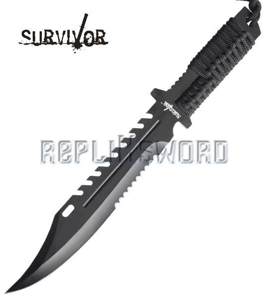 Couteau de Survie Black Survivor HK-769BK Poignard