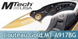 Couteau Pliant Gold Edition MT-A917BG Mtech USA