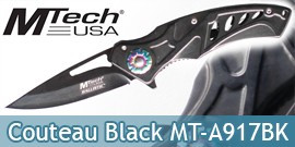 Couteau Pliant Black Edition MT-A917BK Mtech USA