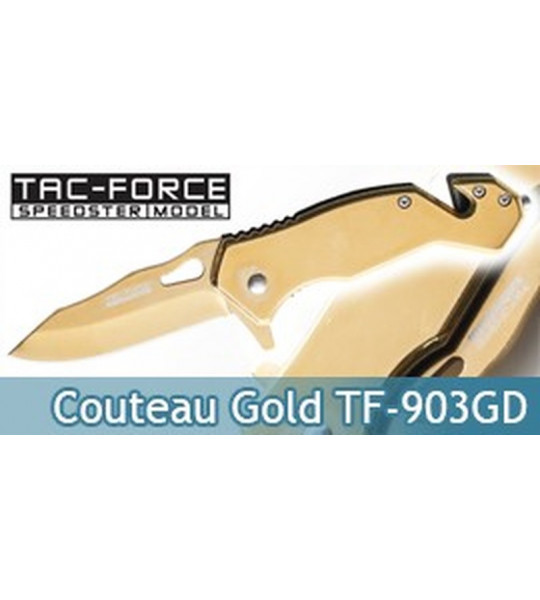Couteau Pliant Gold Edition TF-903GD Tac Force