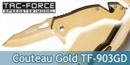 Couteau Pliant Gold Edition TF-903GD Tac Force