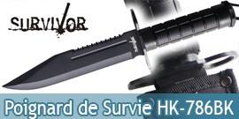 Poignard de Survie Survivor HK-786BK Dague
