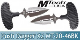 Set 2 Couteaux Push Dagger MT-20-46BK Mtech USA