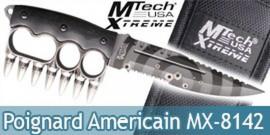 Couteau Poing Americain Poignard Mtech MX-8142SL