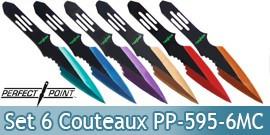 Set 6 Couteaux de Lancer PP-595-6MC Perfect Point