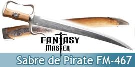 Sabre de Pirate Fantasy Master Poignard Couteau