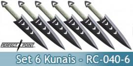 Set 6 Couteaux de Lancer Kunais Perfect Point RC-040-6