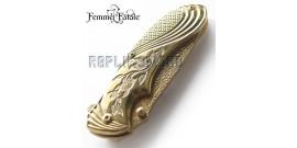 Couteau Pliant Gold Flowers Femme Fatale FF-A008GD
