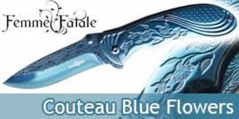 Couteau Pliant Blue Flowers Femme Fatale FF-A008BL