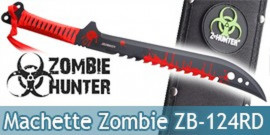 Machette Red Zombie Hunter Epee Courte ZB-124RD