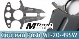 Couteau Push Dagger Gris Collier Neck Knife MT-20-49SW