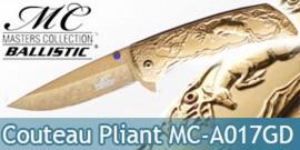 Couteau de Poche Chasseur Cerf Gold MC-A017GD