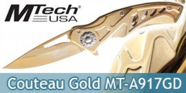 Couteau de Poche Gold Edition MT-A917GD