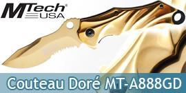 Couteau Pliant Doré Mtech USA MT-A888GD